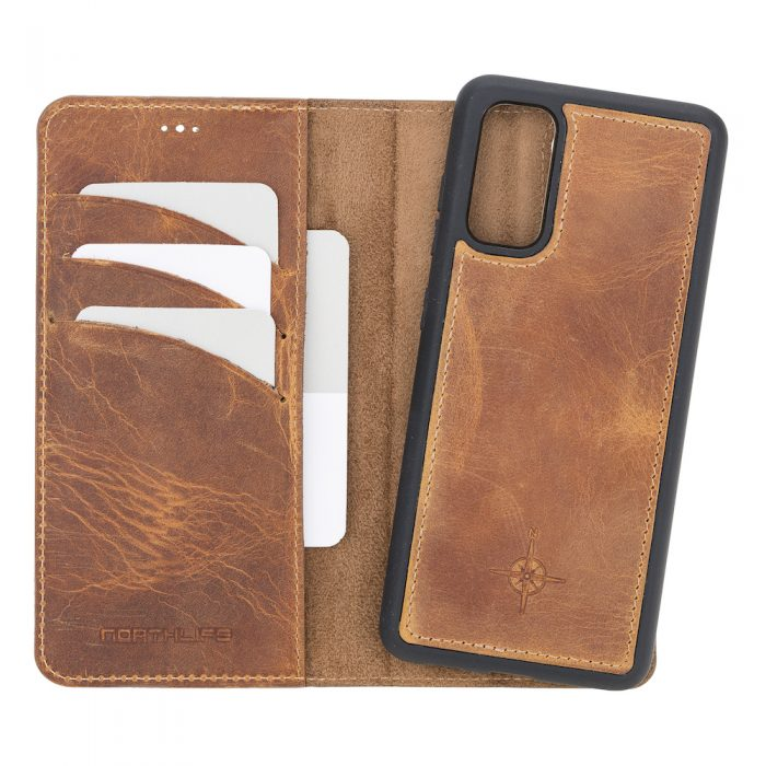 Samsung Galaxy S20 – Detachable wallet case – Villa Cruoninga Cognac