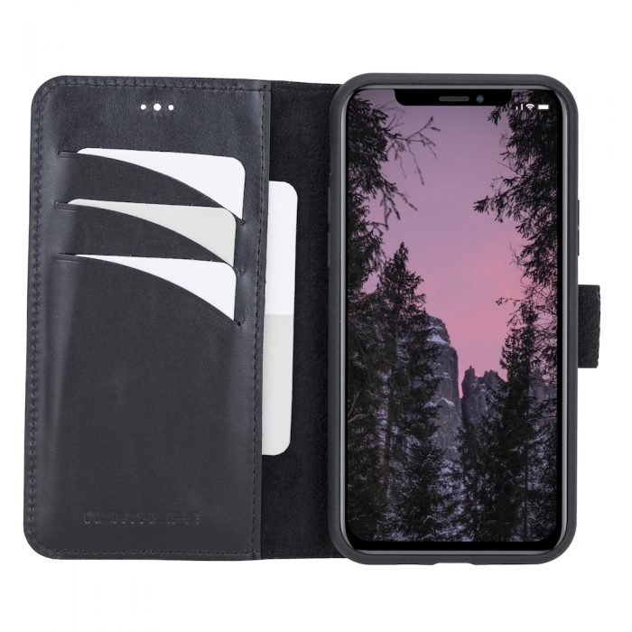 iPhone 11 Pro – Detachable wallet case – Burcht Trecht Black